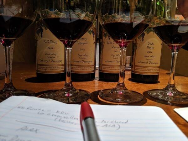 Wine buying considerations during a tasting with a rep