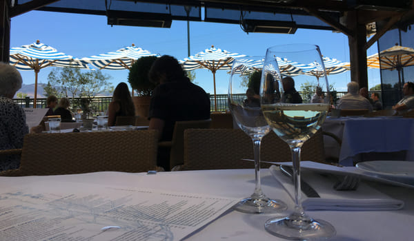 Wine list at the restaurant