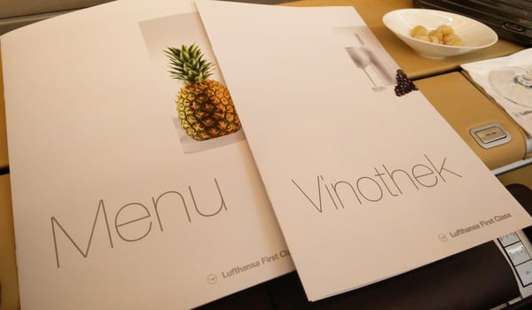wine list paired with food menu
