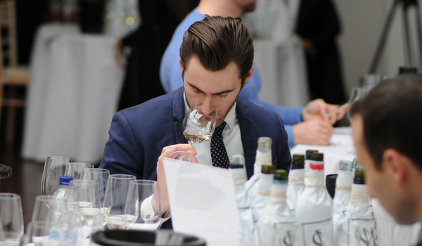 Sommelier at a wine tasting event