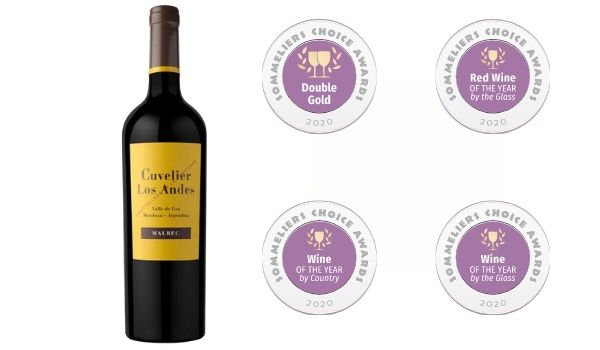 2016 Cuvelier Los Andes / Malbec: Double Gold, 'Wine Of The Year By Country,' 'Wine Of The Year BTG,' 'Red Wine Of The Year BTG' Winner