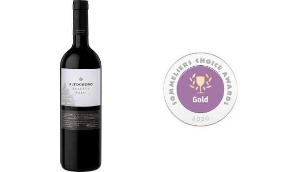 2015 Altocedro Malbec Reserva: Gold Winner