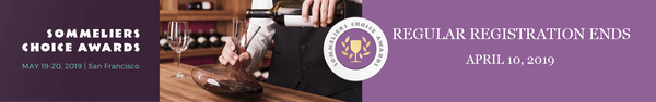 Sommeliers Choice Awards Regular Registration Open